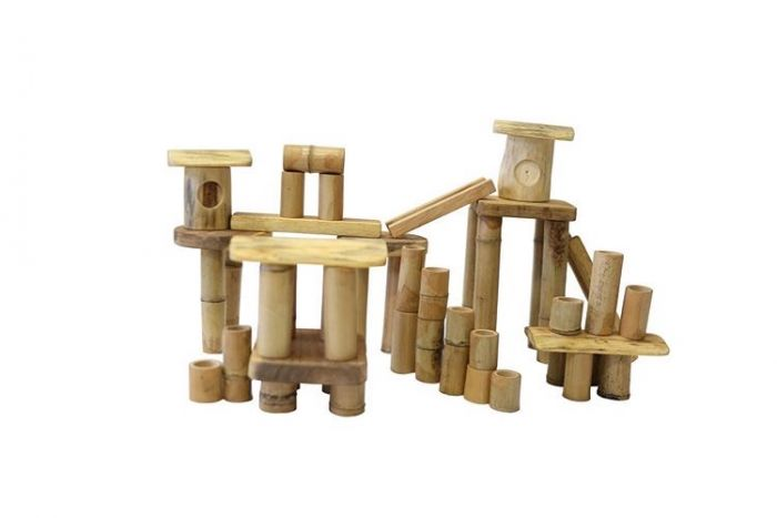 Bamboo Building Set - 50 pieces