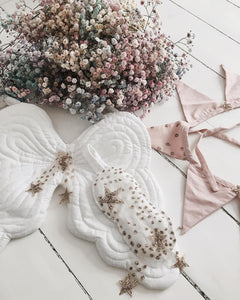 Starry Nights Heirloom Angel Wing and Eyemask Set - White