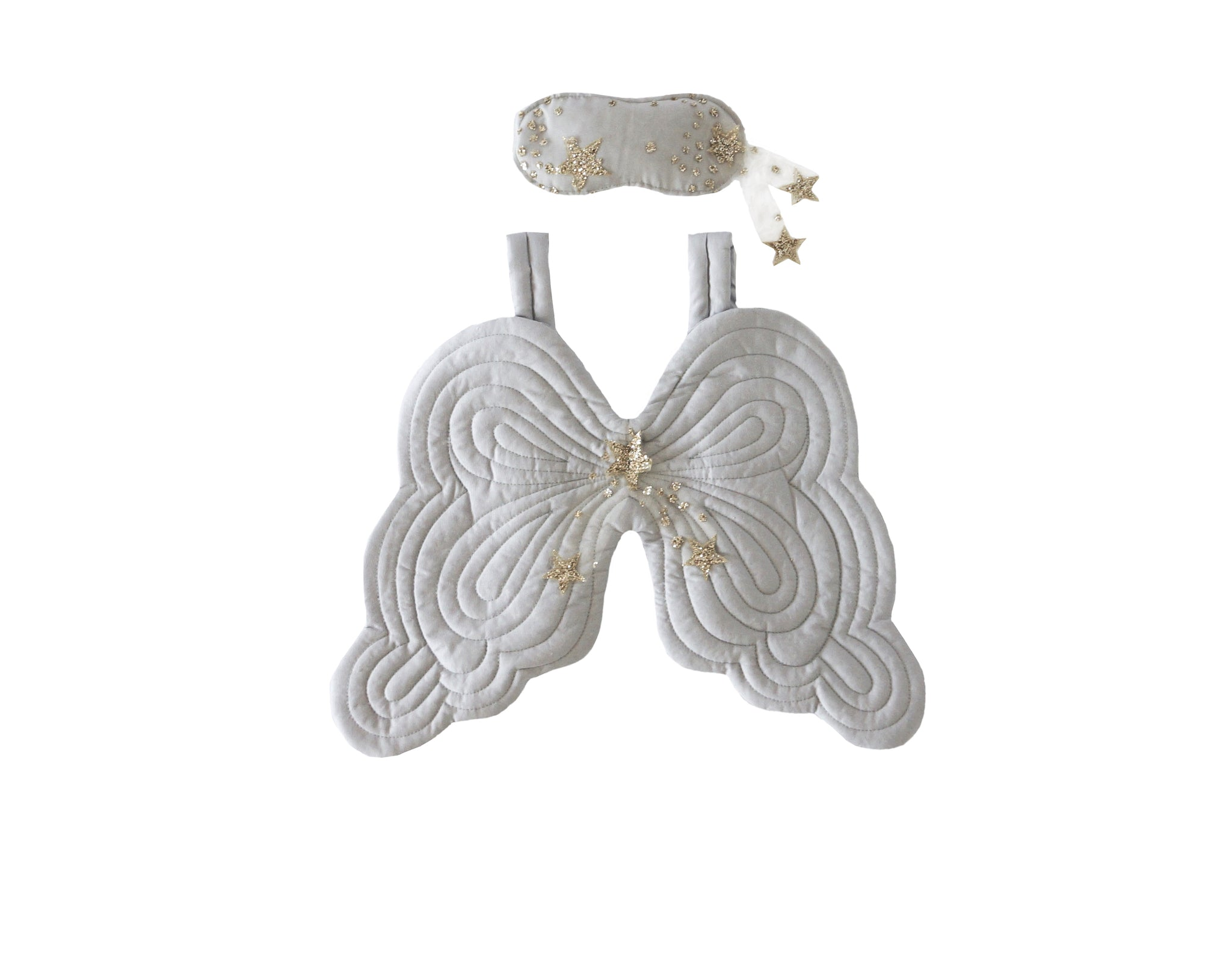 Starry Nights Heirloom Angel Wing and Eyemask Set - Dove