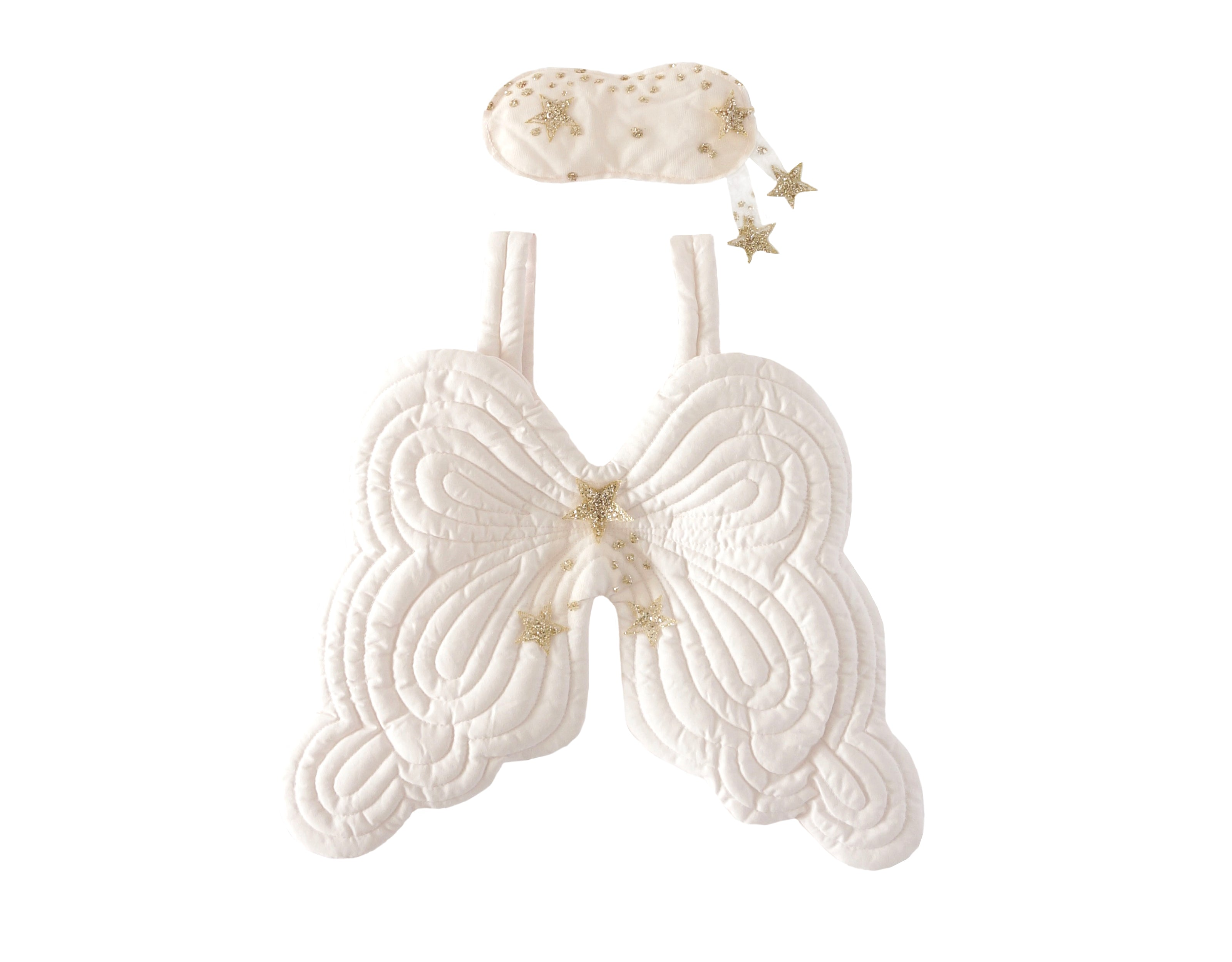 Starry Nights Heirloom Angel Wing and Eyemask Set - Powder