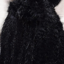 "Luxurious & Elegant Knitted Genuine Russian Mink Fur Scarf with Mink ""Flower"" Closure - BOUTIQUE CHIC"