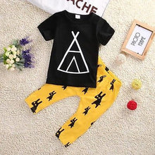 Native American Style 2 Piece Boys T-Shirt & Pants Clothing Set - BOUTIQUE CHIC