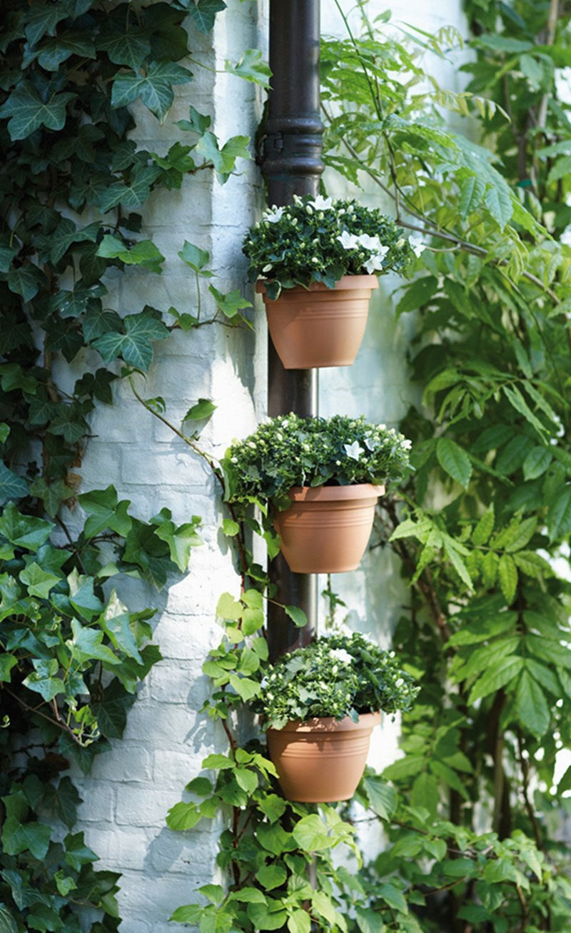 Unique Gutter Downspout Flower Pot Hanging Planters ~ Set of 3 Pieces - BOUTIQUE CHIC