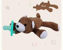 Infant & Baby Plush Animal Toy with Silicone Pacifier ~ Easy to Hold and No More Losing the Paci! - BOUTIQUE CHIC