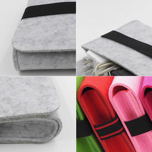 Stylish Multipurpose Felt Power Pack Travel Organizer for Apple MAC & Laptop Accessories