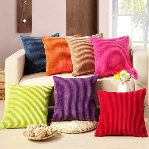 Big Soft Colorful Chenille Cushion/Pillow Cover for Bed, Sofa or Chair ~ Wide Selection of Colors - BOUTIQUE CHIC