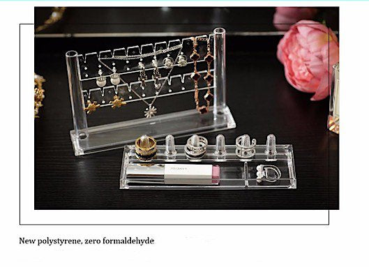 Clear Acrylic Cosmetic Makeup Jewelry Organizer With Removable
