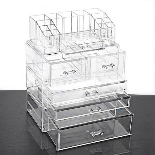 Clear Acrylic Multifunction 6 Drawer Cosmetics Storage Organizer - BOUTIQUE CHIC
