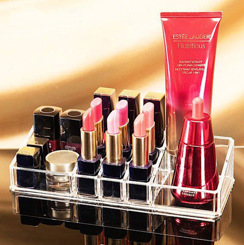Clear Acrylic Lipstick & Makeup Storage Box/Organizer - BOUTIQUE CHIC