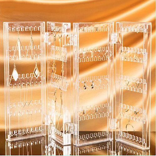 Clear Acrylic Jewelry Display Organizer for Earrings - BOUTIQUE CHIC