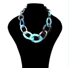 Designer Statement Acrylic Linked Choker Necklace ~ Maxi Boho Fashion Jewelry - BOUTIQUE CHIC