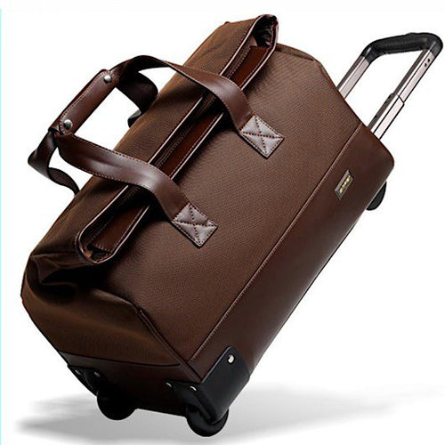 Large Capacity Rolling Duffle Travel Carry On Bag  ~ Waterproof Rolling Luggage - BOUTIQUE CHIC