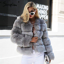 Luxurious Vintage Styled Short Fluffy Faux Fur Coat - BOUTIQUE CHIC