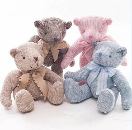 Full of Charm Soft Knitted Jointed Teddy Bear with Movable Arms and Legs in 2 Lovable Sizes - BOUTIQUE CHIC