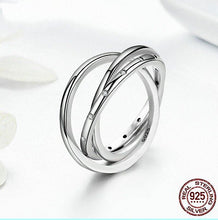 Stunning Sterling Silver 3 Circle Droplets Rolling Ring ~ One Band with Clear CZs in Pave Setting - BOUTIQUE CHIC