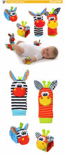 Newborn Infant Baby Soft Plush Cartoon Animal Wrist Strap Baby Rattles & Baby Socks ~ 0-12 Months - BOUTIQUE CHIC