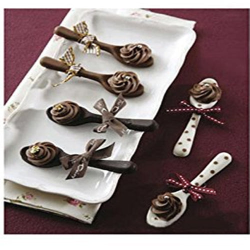 Spoon Shape Silicone Mold ~ Makes 6 Elegant Chocolate Spoons to Serve with Dessert or Hot Beverage - BOUTIQUE CHIC