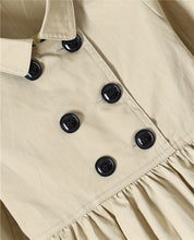 Luxury Designer Classic Double Breasted A-Line Trench Dress with Turn Down Collar ~ 24 Months to 7T - BOUTIQUE CHIC