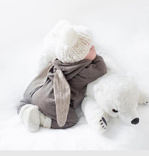 Plush Polar Bear Newborn Baby Support Pillow ~ Nursery & Kid's Room Decor, Sleep Support & Plush Toy - BOUTIQUE CHIC