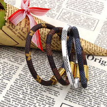 Luxury Brand Fashion Jewelry Gold Plated & Leather Bracelet with Magnetic Clasp ~ 4 Designs & Sizes - BOUTIQUE CHIC