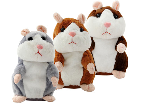 Lovely Interactive Talking Hamster Plush Toy ~ Talks & Imitates Your Speech in 6 Languages - BOUTIQUE CHIC