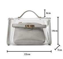 Luxurious & Trendy Transparent Handbag with Removable Shoulder Strap & Interior Clutch - BOUTIQUE CHIC