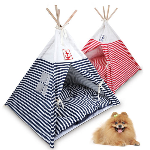 Trendy Dog & Cat Play and Sleep Teepee Tent ~ Comes with Mat - BOUTIQUE CHIC