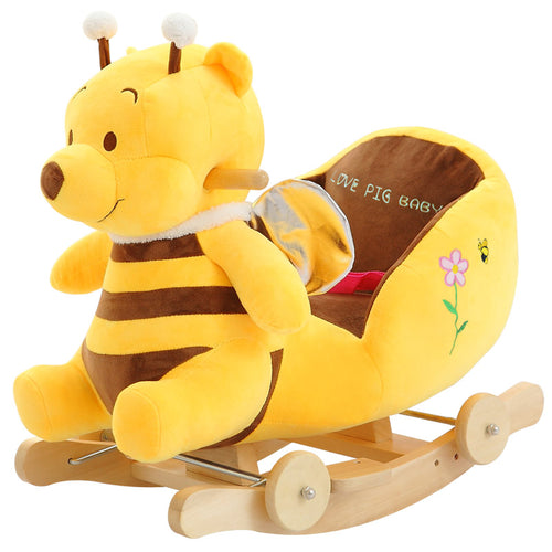 Adorable Musical Plush Bumblebee Baby & Children's Rocking Chair & Wooden Swing Seat ~ 35 Fun Songs - BOUTIQUE CHIC