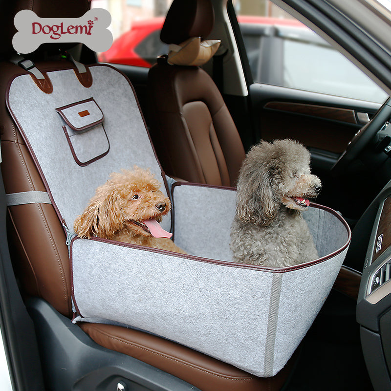 Luxury Pet Front Or Back Car Seat Cover Protector 2 In 1 Dog Travel