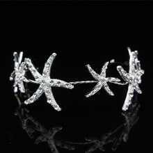 Luxury Starfish Bridal Tiara Hair Accessory in Clear Rhinestones ~ Perfect for Beach Weddings - BOUTIQUE CHIC