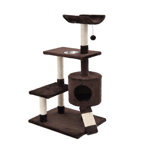 Faux Fur Easy Assemble Cat & Kitten Climbing Tower Haven ~ Condo, Perches, Scratch Ramp & More - BOUTIQUE CHIC