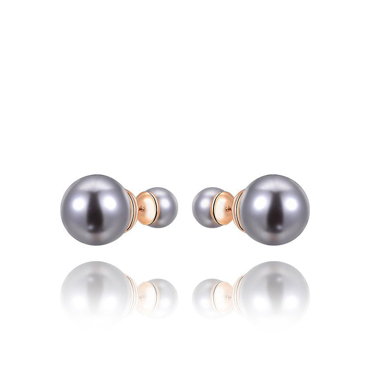 Luxurious Double Ball Designers Front Back Fashion Pearl Jewelry