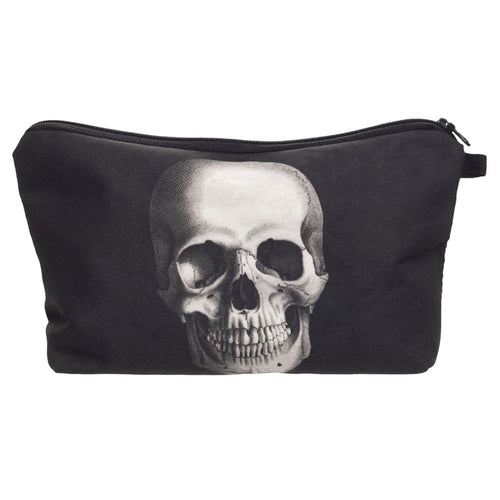 Skull or Mustache Makeup Bag Case with 3D Printing ~ Trendy Travel Cosmetic Toiletry Bag - BOUTIQUE CHIC