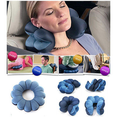 Total Comfort Travel Pillow Cushion ~ Twist & Place for Pressure Relief of Head, Neck, Back or Knee
