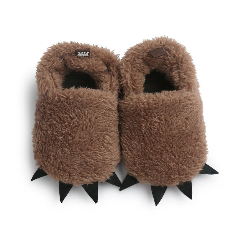 Adorable Cartoon Monster Paw Warm Baby Slippers First Walker Baby