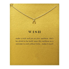 Sparkling Wishbone Wish Pendant Clavicle Chain Necklace ~ Fashion Statement Necklace - BOUTIQUE CHIC