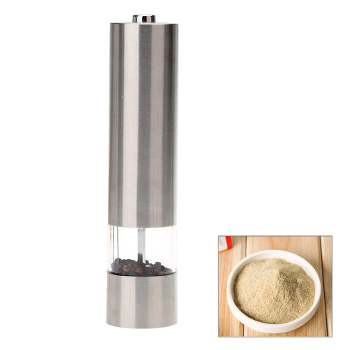 Premium Stainless Steel Electric Pepper Mill Grinder for Salt, Pepper, & Spices - BOUTIQUE CHIC