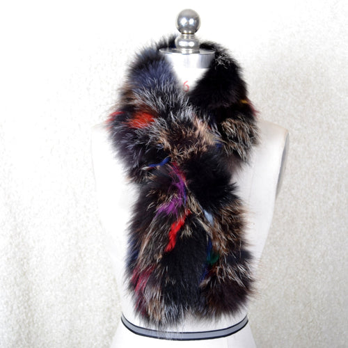 Luxurious Hand Knitted Genuine Natural Whole Fox Fur Scarf Wrap - BOUTIQUE CHIC