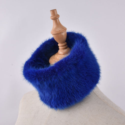 Luxurious Genuine Mink Knitted Fur Collar, Headband or Muffler Scarf in a Jewel Tone Color Selection - BOUTIQUE CHIC