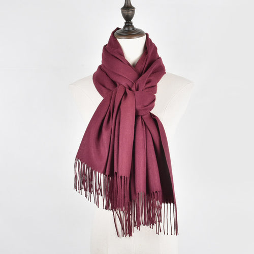 Elegant & Luxurious Cashmere Scarf with Tassels ~ Both Comfortable & Stylish - BOUTIQUE CHIC