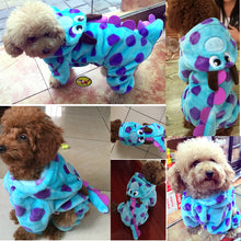 Blue Dragon Dreams for Your Fur Baby ~ Blue Velveteen Fleece or Flannel Dragon PJ's with Hood - BOUTIQUE CHIC