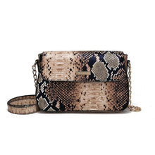 Stylish Snake Embossed Crossbody Messenger Bag with Chain