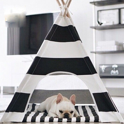 Trendy Dog & Cat Play and Sleep Teepee Tent ~ Comes with Mat