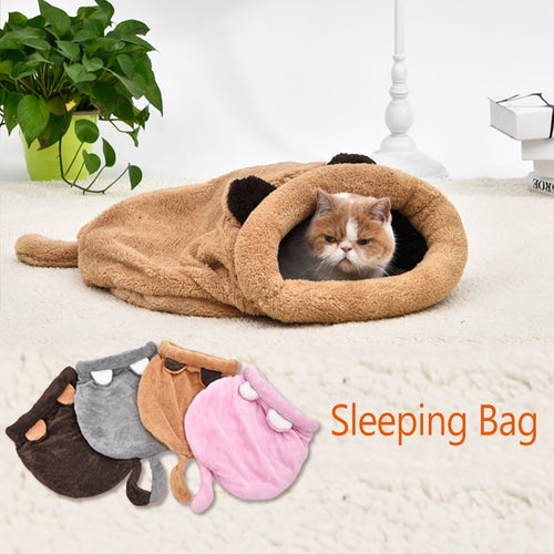 Warm Soft & Cuddly Sleeping Bag for Cats & Kittens