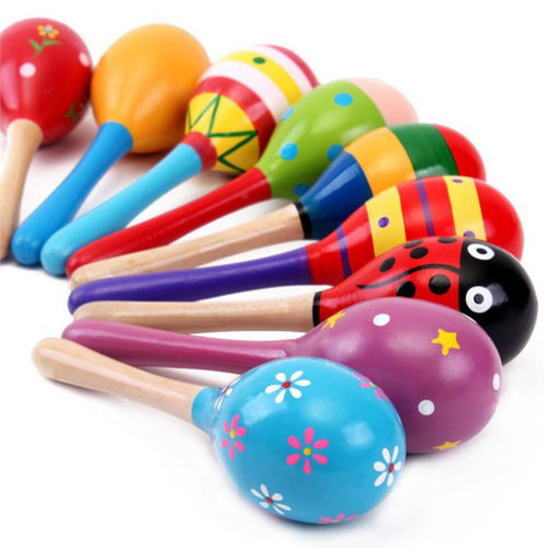 Colorful Musical Rattle, Wooden Toy or Hand Shaker for Babies, Toddlers & Kids ~ 1 Piece Random - BOUTIQUE CHIC
