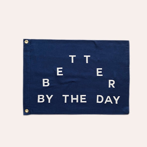 Flag - Better by the Day - Navy - Small
