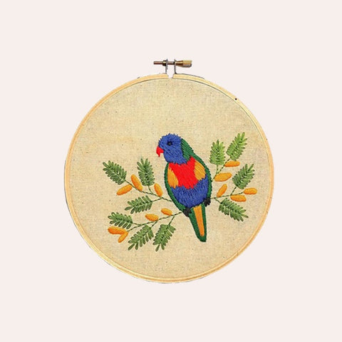 Embroidery Kit - Parakeet