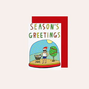 Able and Game Card - Snowglobe Seasons Greetings