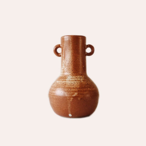 Fire on Clay Vase - A