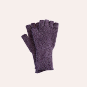 Fingerless Gloves - Medium - Dusk Purple